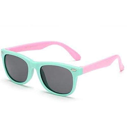 Boolavard Flexible Kinder Sonnenbrille Polarized Kind Baby Safety Coating Sonnenbrille UV400 Eyewear (Grün Rosa)