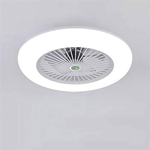 Ventilador de techo con iluminación, ventilador de techo con luz LED, velocidad de viento ajustable, regulable con mando a distancia 36 W lámpara de techo LED moderna para recámara salón