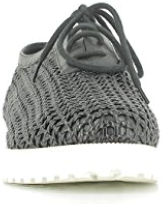 What For Zapatos de Cordones con Rejillas Negros, T. 40