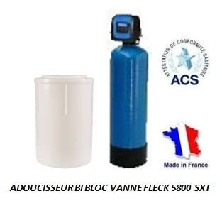 Adoucisseur d'eau bi bloc 30L fleck 5800 SXT