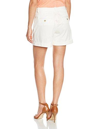 Cortefiel Damen Shorts Bermuda Basica Pique Weiß