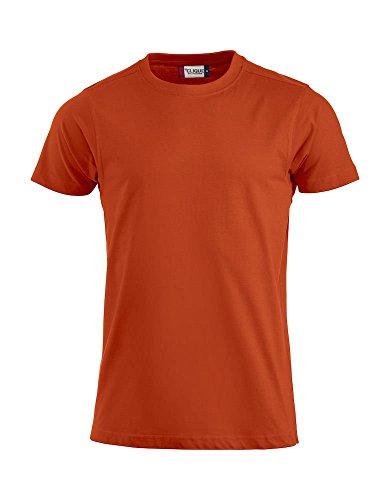 Maglia T-shirt maglietta uomo taglie forti cotone slim fit CQ029340 Arancio