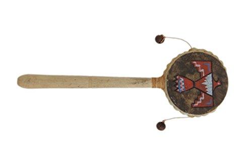 Holzrassel Holz Rassel Handtrommel Indianer Handrassel Maracas Holz Donnervogel