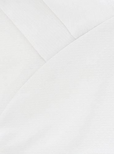 oodji Ultra Femme Chemise en Coton avec Manche Courte Blanc (1200N)
