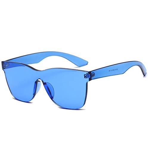 Masterein Frauen Frameless Conjoined Süßigkeit-Farben-Sonnenbrille UV400 PC Rahmen Harz Objektiv Brillen Strand Driving Sun Glasses