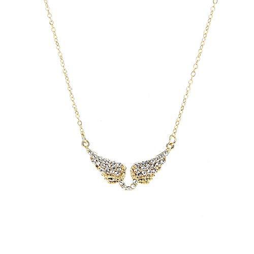 Ddcjy Damen Halskette Lange Diamant Pullover Kette Engelsflügel Anhänger Lässige Schlüsselbein Kette Boutique Zubehör Großhandel, Gold
