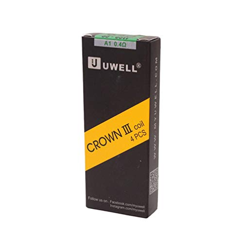 Oubbi Original Uwell Crown 3 Coils mit 0.25/0.4 Ohm Spulen / 4 Pack (0.4 ohm) -