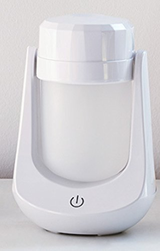 JASNO Creative Voiture Diffuseur Humidificateur 180 ° Rotary USB 120 ML Mini Portable LED Aromathérapie Machine pour Nuit Yoga Spa Chambres Et Voitures,White