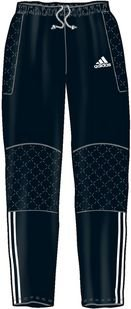 Uomo adidas portiere pantaloni tierro - nero, polyester, xs
