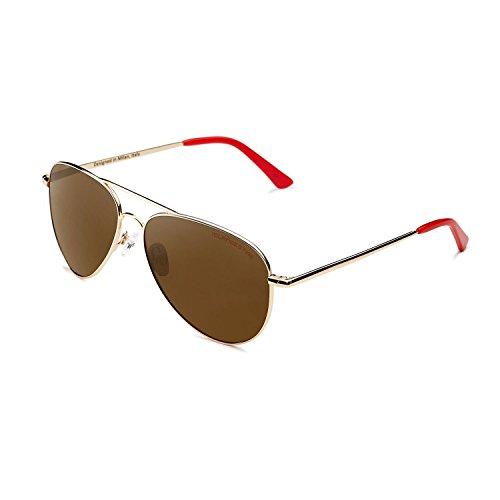 CLANDESTINE Gold R Brown - Gafas de Sol Polarizadas Hombre & Mujer