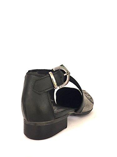 Damen Mokassins Shoes Zeta Schwarz Silber wT5HZpq4