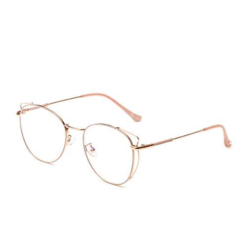 JIUPO Blaulichtfilter Computer-Gläser Retro Brille Ohne Sehstärke mit Nasenpad Metall Brillenfassung Unisex