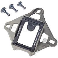 3 colores (negro, DE, CC), aluminio Wilcox L4 3 agujero alarma NVG estilo visión nocturna útilmente Base DE montaje para casco PASGT/MICH/ACH para Paintball táctico DE Airsoft FG