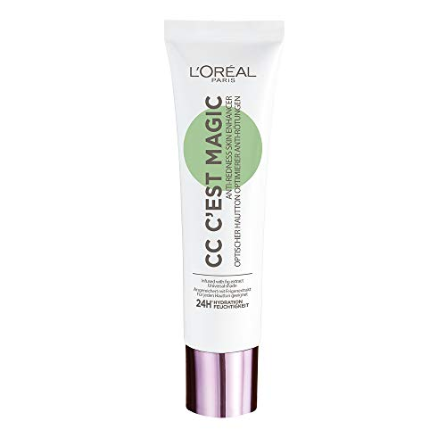 L'Oréal Paris Nude Magique CC Crème C'est Magic Hydratation 24H/FPS 20 Teinte Universelle Vert