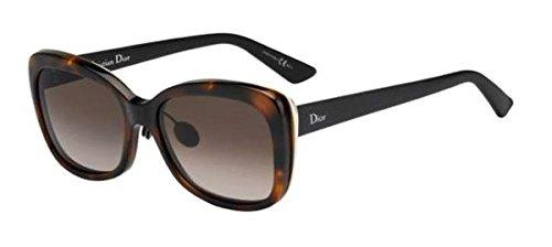 Dior Damen DIORIFIC2N HA 3BZ Sonnenbrille, Schwarz (Hvn Gd Mttbk/Brown Sf), 55
