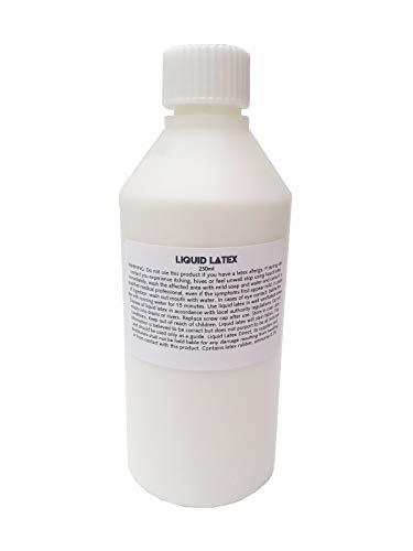 B-Creative 250ml klarer flüssiger Latex, gefälschte Haut, Narben, Make up Halloween Kostüm 60% ()