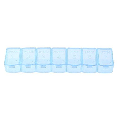 Pilulier Domybest 7compartiments boîte de rangement de médicaments ou bonbons organiseur pour la maison
