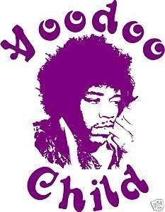 Online Design Wandaufkleber, Vinyl, Motiv Jimi Hendrix - Voodoo Child Waldgrün
