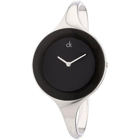Calvin Klein Mirror Black, S, K2823130 - Reloj de mujer de cuarzo, correa de acero inoxidable, color plata