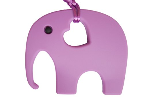 Elephant Teether Soother Silicone Toy BPA Free, 12 Colours (violet)