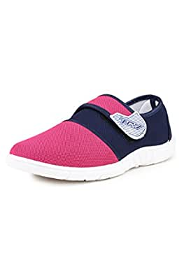 TRV Women's Canvas Bellies (Pink, Silk4) - 5 UK