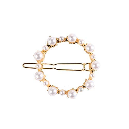 hmtitt Haar Zubehör, Damen Haarklammern Haarspange Haarschmuck Künstliche Perle Haarspangen Dekorative Braut Handmade Haarschmuck für Damen Haargummis Haarnadeln für Hochzeit -