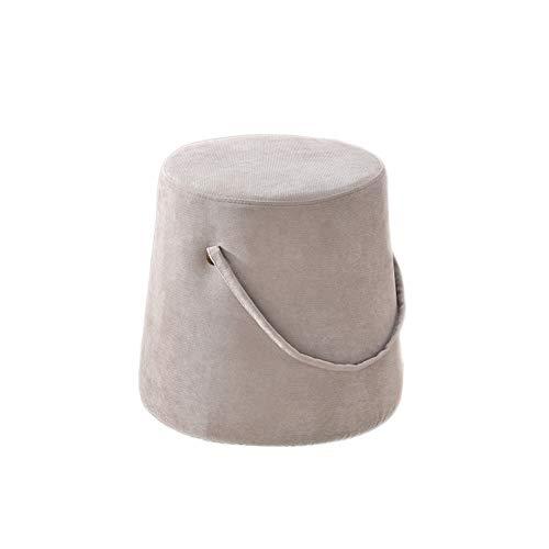 Sgabello portatile del sofà del tessuto del poggiapiedi con il banco della scarpa per il salone (colore : cammello)