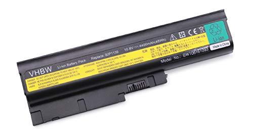 vhbw Li-Ion Akku 4400mAh (10.8V) schwarz für Notebook Laptop IBM Lenovo ThinkPad R400, R500, R60, R60e, R61, R61e wie 40Y6795, 40Y6797, 40Y6799.