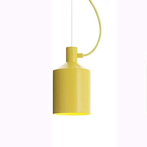 Lámparas de color creativa, moderna minimalista tienda de ropa Cafe Tea Shop Decoración Lámparas del techo del restaurante, blanco, amarillo