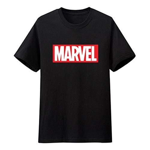 WLDSH Avengers League Movie Kurzarm Top Heroes Kostüm Baumwolle T-Shirt (Farbe : A, größe : L)