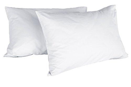 Italian Bed Linen 8058575002884Paar Kissenbezüge Uni, weiß, 100% Baumwolle, 52x 82x 1cm