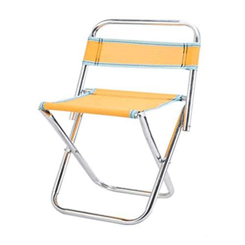 Campingstuhl Rückenlehne Große Kapazität Leichter Klappstuhl Outdoor Tragbare Kompakte Rückenkissen Bergsteigen Picknick Angeln (Farbe : 3)