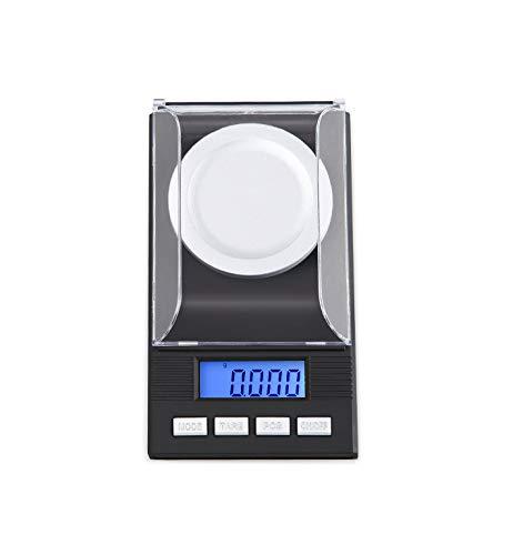 E-KIA Digitale Waage Elektronische Personenwaage,Klein, Vielzahl Von Einheiten Zu Konvertieren,0,001g Hohe PräZision, Messender Schmuck,100g/0.001g