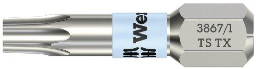 Preisvergleich Produktbild WERA-WERK HERMANN WERNER GMBH & CO.KG Bit TX Gr.9 L.25mm VA 0, 6 cm (0, 25 Zoll) 6KT m.Torsionszone WERA DIN3126-C 6, 3