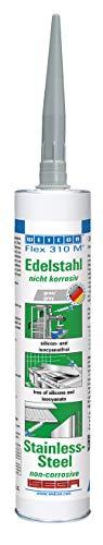 Weicon 13656290 Flex 310 M Edelstahl 310 ml elastischer Klebstoff auf MS-Polymer-Basis
