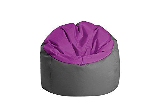 Jumbo Bag 30170-17 Pouf Globe Polyester Aubergine/Anthracite 70 x 70 x 70 cm