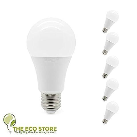 Lumilife 12Watt E27Edison Schraube Standard Form Glühbirne–5PACK–Kühles Weiß–Nicht dimmbar–75W Halogen/Glühlampe entspricht–300Grad Abstrahlwinkel–Versand aus England–Energieeffizienzklasse A +