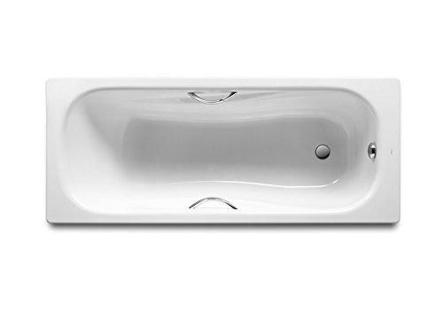 Roca A220950001 – Bañera de acero rectangular con fondo antideslizante