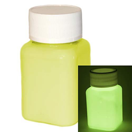 lumentics Premium Leuchtfarbe Gelb 100ml - Im Dunkeln leuchtende Farbe, Helle Nachleuchtfarbe, Selbstleuchtende Wandfarbe, UV Glühfarbe, Glow - Leuchtende Wand Farbe