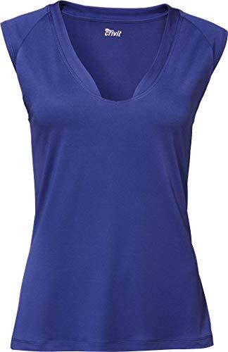 Crivit® Damen Sportshirt/Funktionsshirt, ärmellos (Gr. S 36/38, blau)