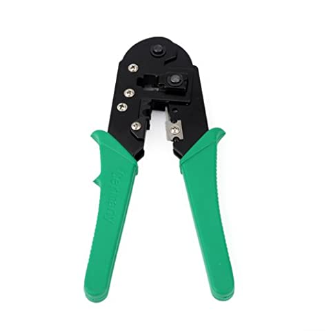 HDE RJ45 Ethernet Crimping Tool Cat 5 / Cat 6 Network LAN Cable Crimper and Cable Stripper