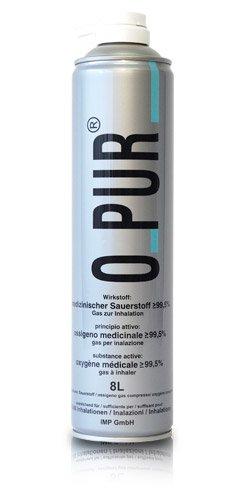 O PUR Sauerstoff Dose f.Maske Spray 8 l Spray