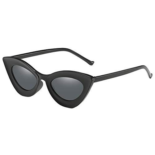 Lazzboy Mann Frauen Cat Eye Sonnenbrille Brille Shades Vintage Retro Style Brillenfassungen Damen Kunststoff Brillen, Sonnenbrillen & Zubehör Amerika Punk Wild Persönlichkeit(Schwarz)