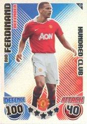 Match Attax 2010-11 Hundred Club Rio Ferdinand