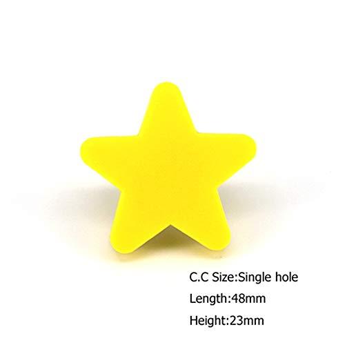 Reizende Kinder Schlafzimmer Möbel Kabinett Knöpfe Kinder Kommode Schublade Griffe cartoon Türzug Stern & Mond,Smallstar ()