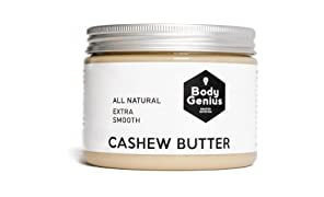 Body Genius CASHEW BUTTER - Mantequilla Natural y Suave de Anacardo. Made in Spain. 500gr