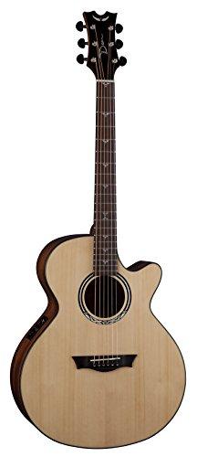 Dean Guitars Performer Plus Cutaway Electro - Chitarra acustica con accordatore, colore naturale lucido
