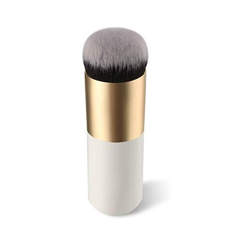 Cosanter pennello professionale per make up,ideale per fondotinta,fard e cipria,forma grande e rotonda Pennelli per viso (Oro)