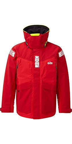 Gill 2019 OS2 Mens Offshore Jacket Red OS24J Mens - L