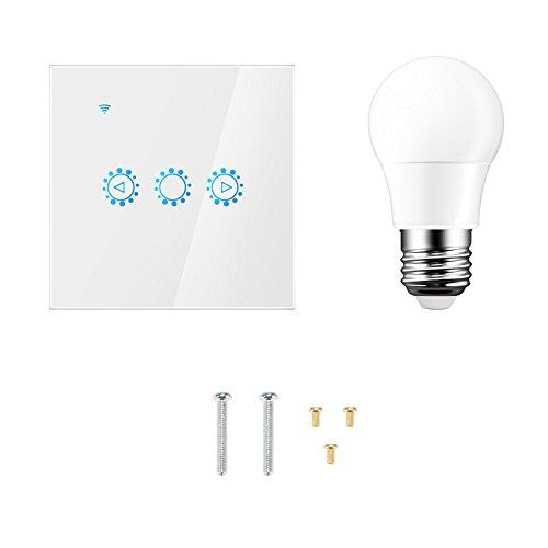 Sunsbell Smart Wifi Switch Wand-Touch-Schalter Kompatibel mit Alexa Google Assistant mit einer Glühlampe - Glühlampen-dimmer Umschalten